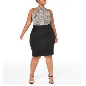 Teeze Me Trendy Animal-Print Bodycon Dress